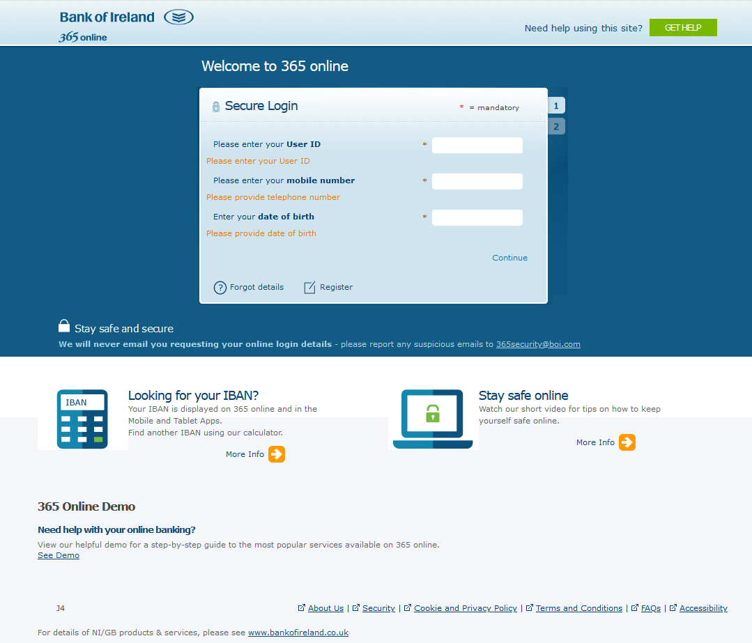 New phishing campaign aimed at Bank of Ireland users