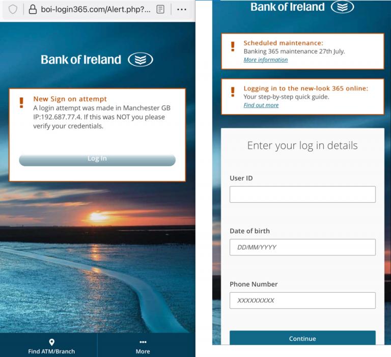 Bank of Ireland phishing OSINT 2